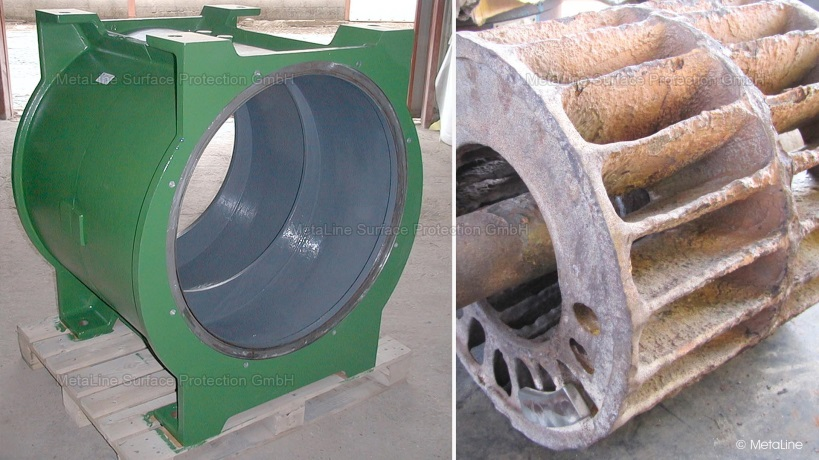 Metaline corrosion protection